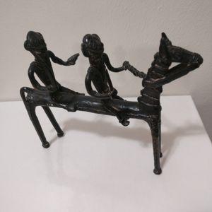 🇨🇦 African bronze figurine midcentury